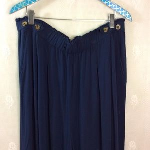 Xhilaration Dark Navy Wide Leg Pull On Pants XXL